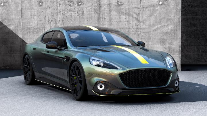 Aston Martin Rapide AMR in green.