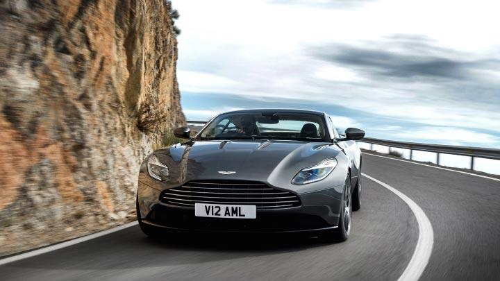 Grey Aston Martin DB11