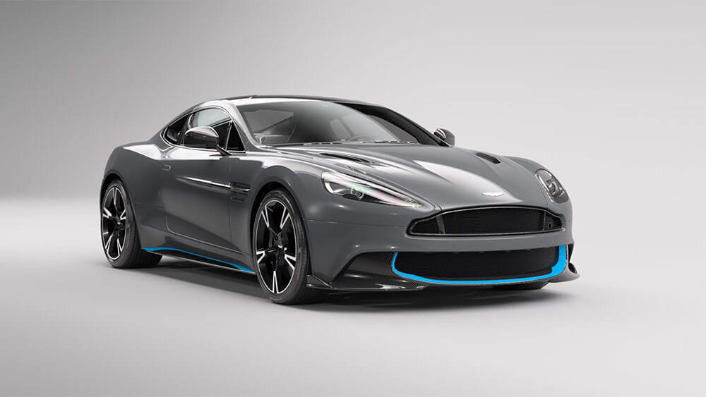 aston martin vanquish s in china grey