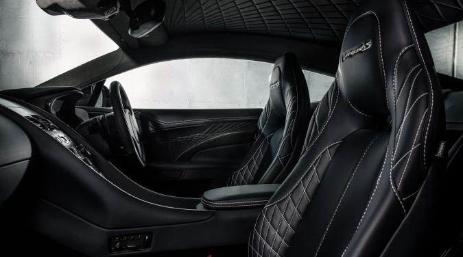 Aston Martin Vanquish S leather interiors.