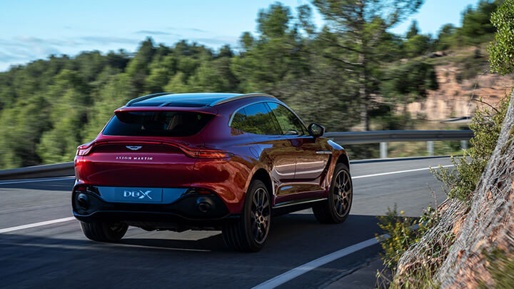 Aston Martin DBX Driving, Rear