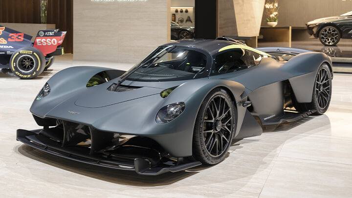 Aston Martin Valkyrie, Showroom