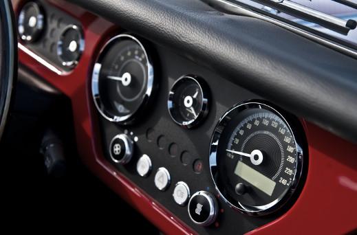Morgan Plus 4 speedometer.