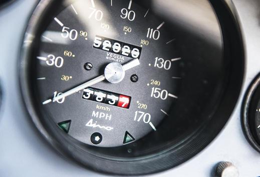Ferrari Dino speedometer.