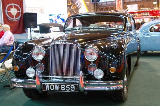 Black 1959 Jaguar Mk lX at the 2015 NEC Classic Motorshow.