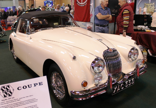 The cream 1960 Jaguar XK150 S which won the Jaguar Champion of Champions award.