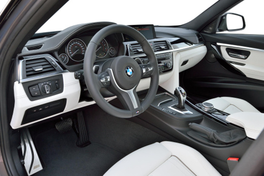 BMW 3 Series interior.
