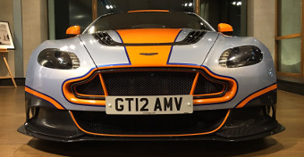 Aston Martin Vantage GT12 from the front.