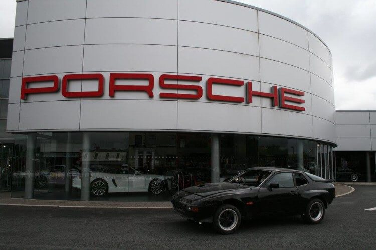 Restored Porsche 924 Carrera GT at Porsche Centre Bolton