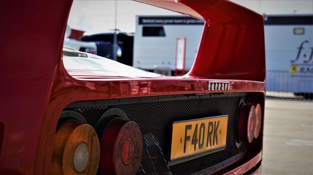 Red Ferrari F40 rear wing.