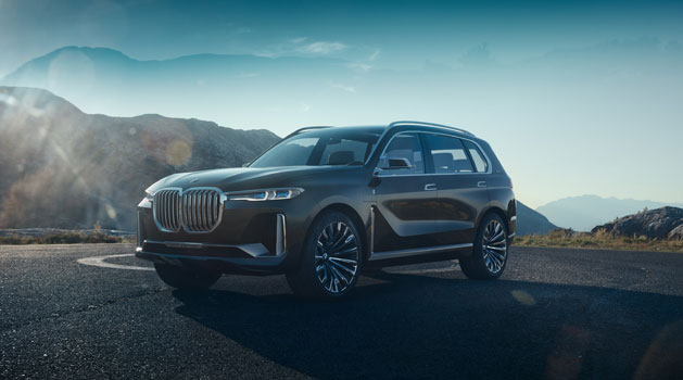 BMW X7 Concept parked up.