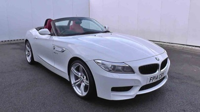 White BMW Z4 Roadster.