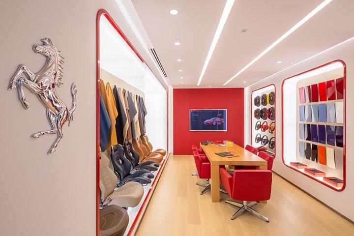 Stratstone Ferrari customisation room.