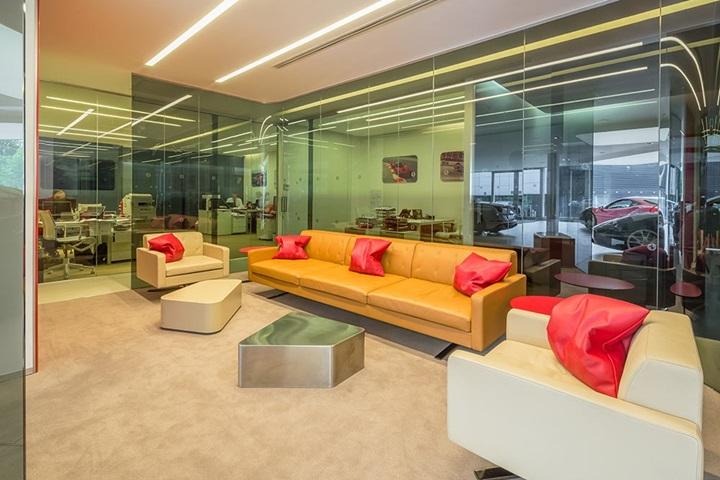 Stratstone Ferrari lounge.