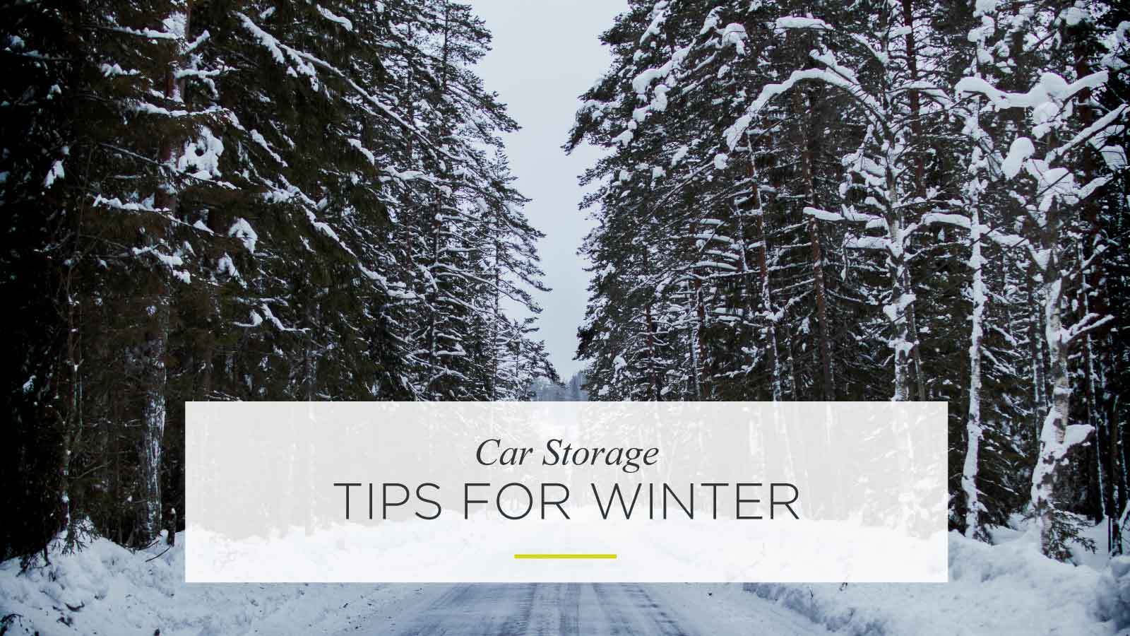 Car storage tips for winter