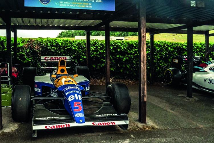 1992 Williams FW14B at Shelsley Walsh..