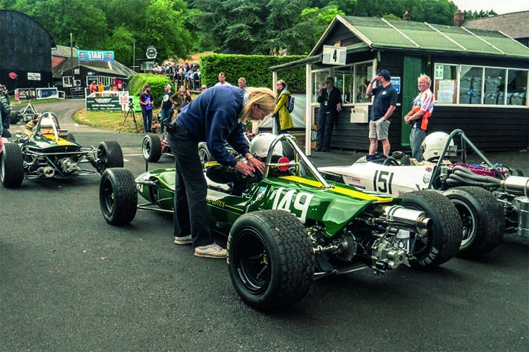 Green 1962 Lotus-BRM 24 at Shelsley Walsh.