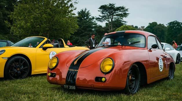 Orange Porsche 356.