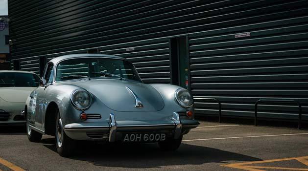 Porsche 356 parked up.