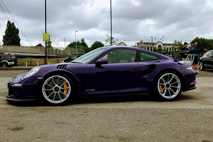 Purple 2017 Porsche 911 GT3 RS at Car Cafe.