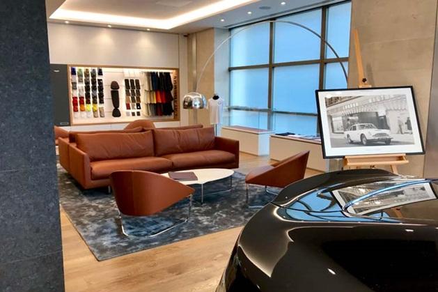 Aston Martin display room, Mayfair showroom.