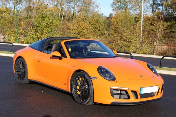 Orange Porsche Targa.