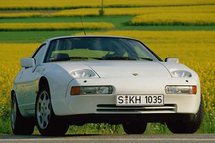 White Porsche 928 GT.