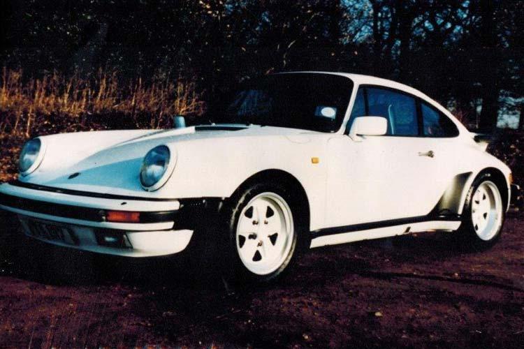 White Pre-1990s Porsche.