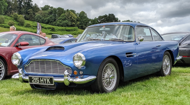 blue aston martin db4