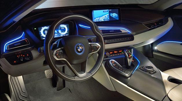 BMW i8 interiors.