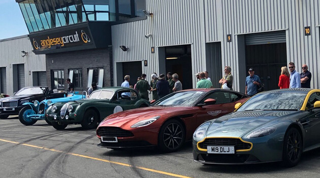 Stratstone cars lined up at the Club Track Experience day.