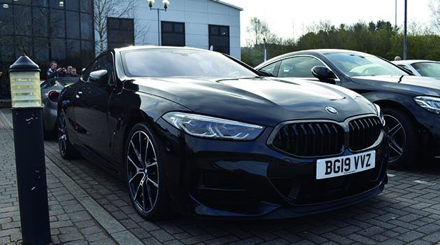 Black BMW M850i at Car Cafe, Pendragon PLC.