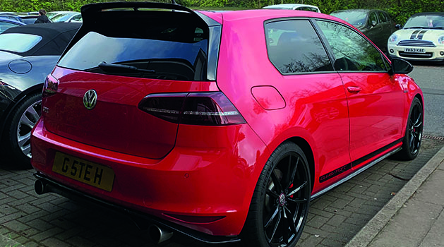 Red VW Golf GTI Clubsport at Car Cafe Nottinghamshire.