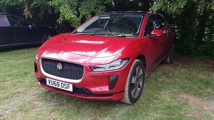Jaguar I PACE in Countryside