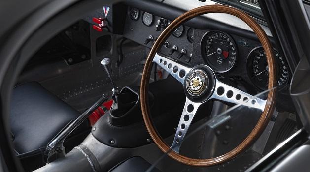 Jaguar Lightweight E-Type interiors.