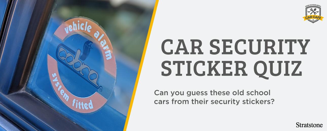 Cobra security window sticker.