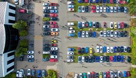 Pendragon PLC car park from above thumbnail.