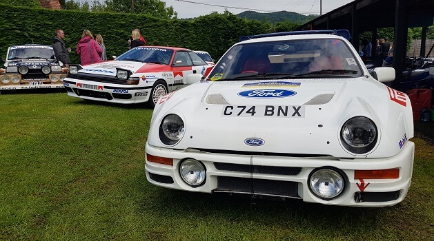 Ford RS200 at Classic Nostalgia, Shelsley Walsh.