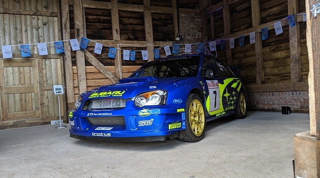 Petter Solberg's WRC Winning Impreza at Classic Nostalgia, Shelsley Walsh.