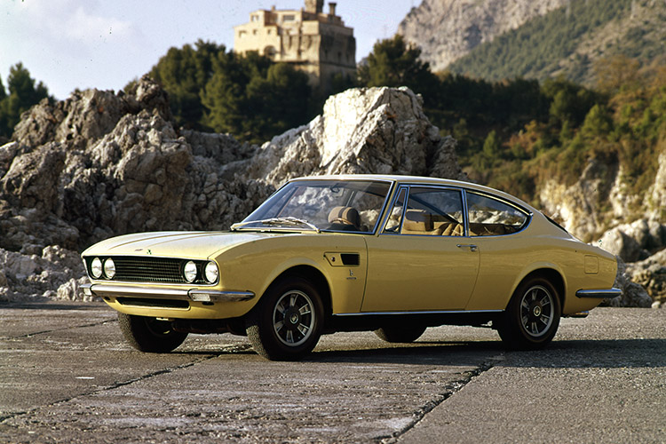 Yellow Fiat Dino.