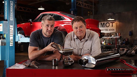 mike and ant, wheeler dealers garage