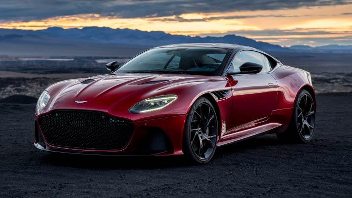 Red Aston Martin DBS Superleggera