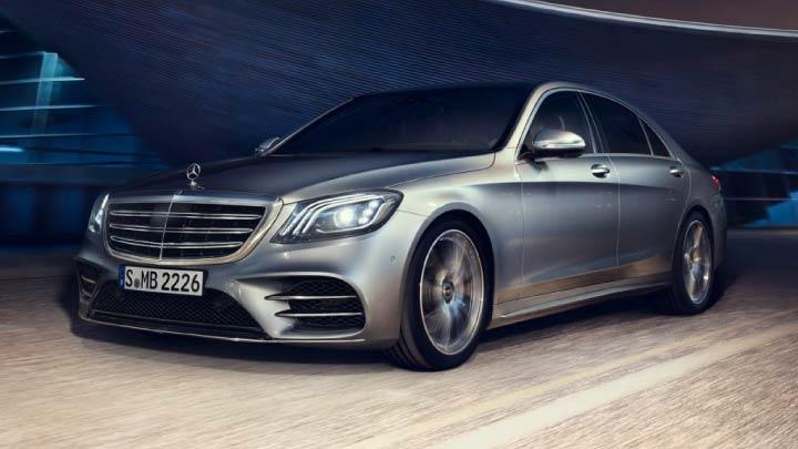 Silver Mercedes-Benz S-Class