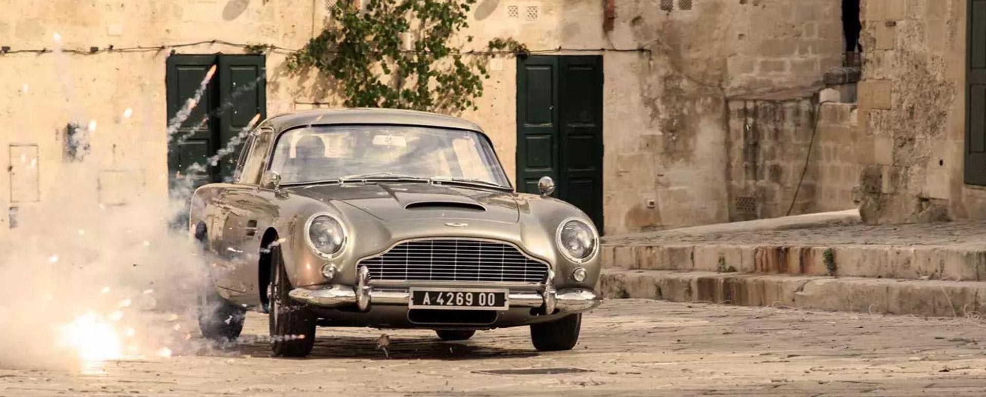 Aston Martin DB5 on James Bond set