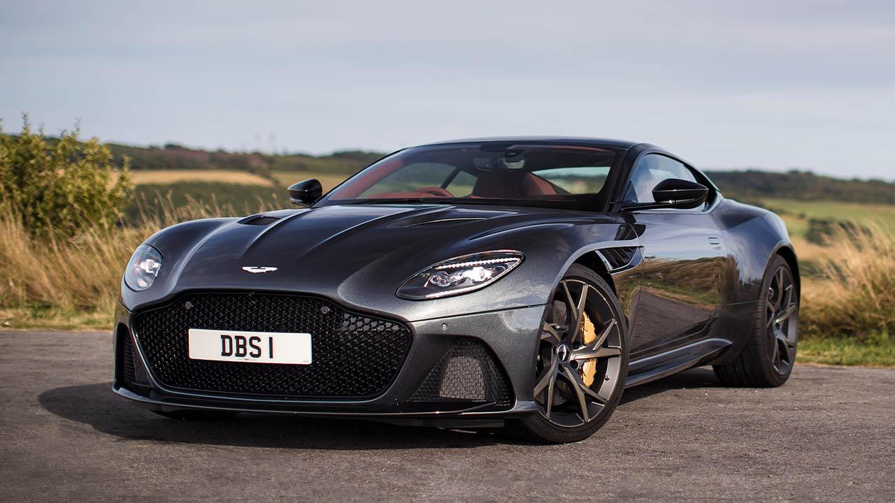 Grey Aston Martin DBS