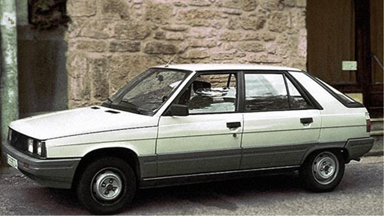 White Renault 11 parked