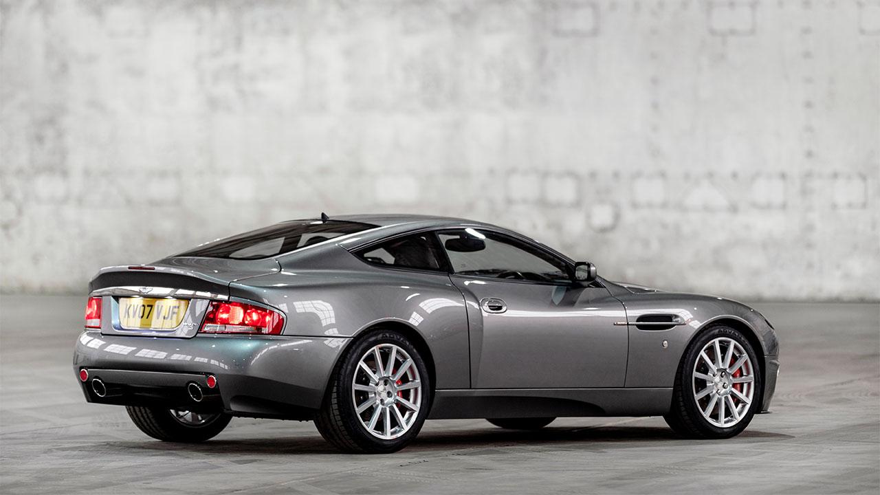 Silver Aston Martin Vanquish S