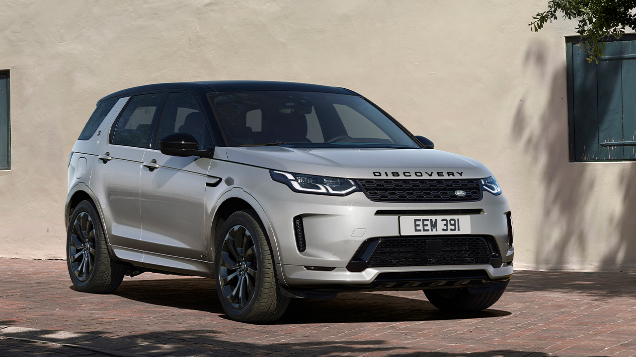Silver Land Rover Discovery Sport, parked