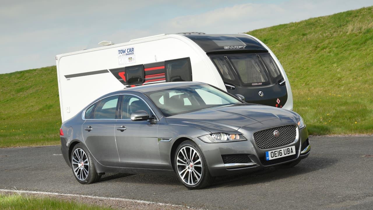 Jaguar XF with Caravan