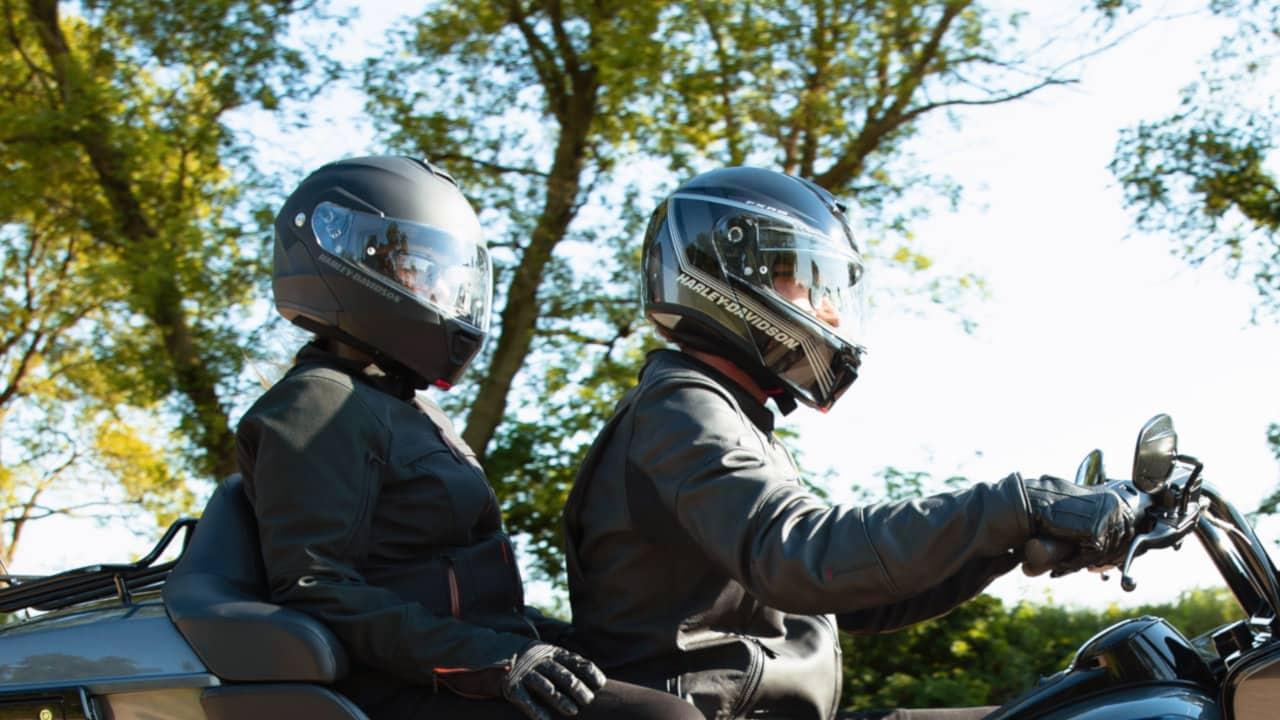 Two People On Motorbike